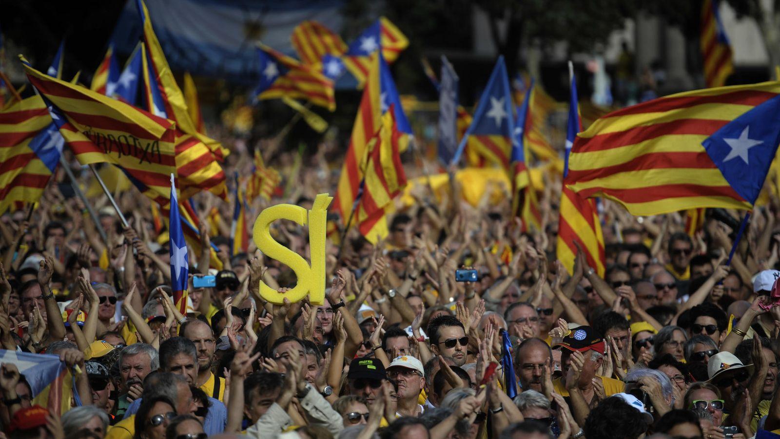 Foto: Manifestación independentista en Barcelona. (AP)