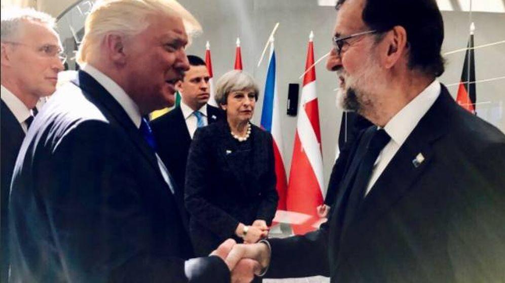 Foto: Mariano Rajoy y Donald Trump. (Twitter)