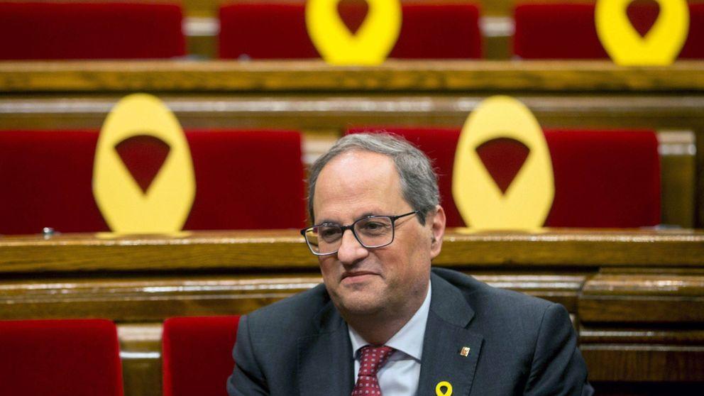 Torra, citado a declarar el 15-M por desobedecer a la JEC con los lazos amarillos y esteladas