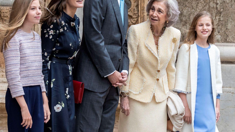 La familia real en Palma. (EFE)