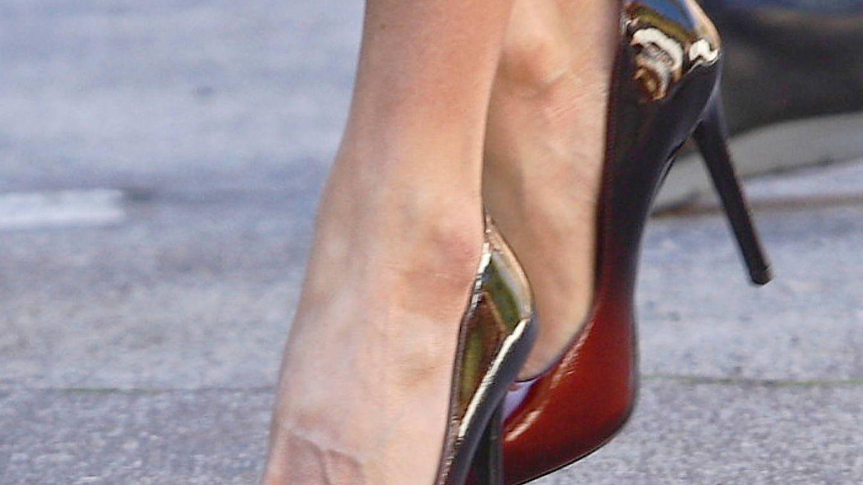 Detalle de los zapatos de la Reina. (LP)