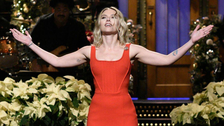 La actriz, presentando 'SNL'. (NBC)