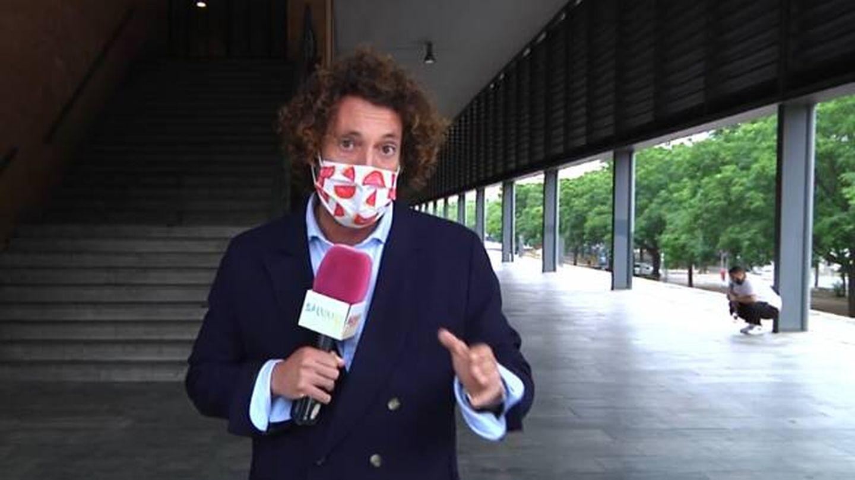 José Antonio León, en 'Sálvame'. (Telecinco)