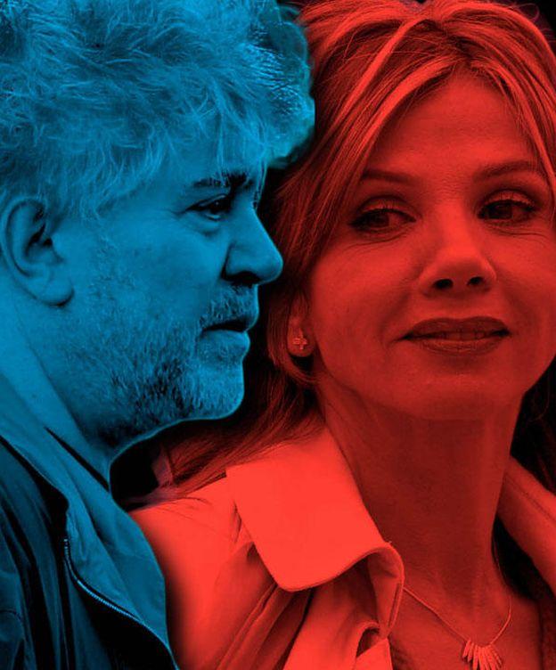 Foto: Pedro Almodóvar y Victoria Abril en un fotomontaje realizado en Vanitatis