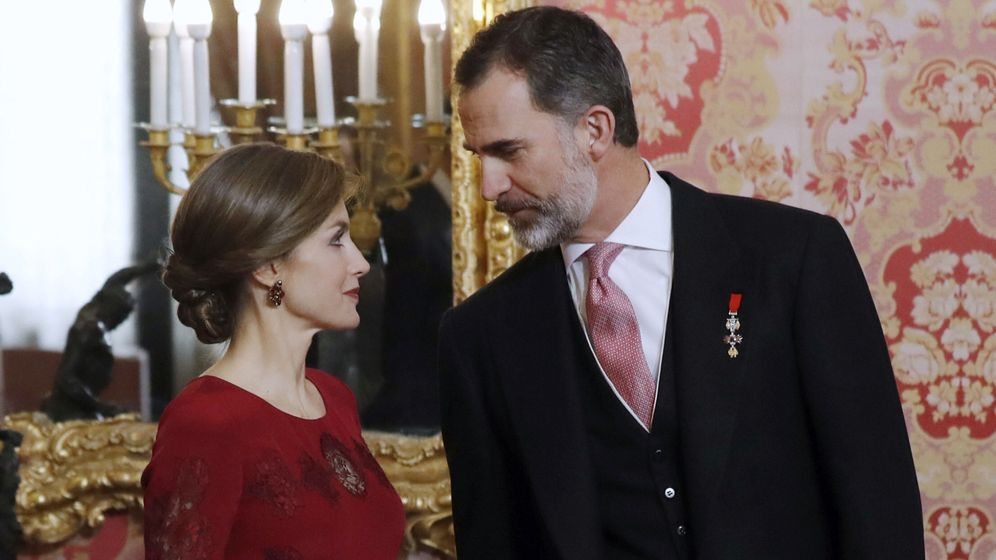 Foto: Los Reyes presiden la recepción al cuerpo diplomático en el Palacio Real