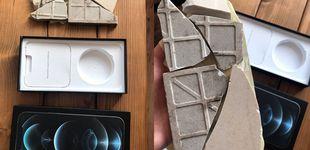 Post de Compra un iPhone 12 Pro Max y le mandan un paquete con un azulejo roto