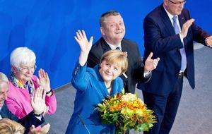 Los principales partidos españoles analizan 'la reválida de Merkel'