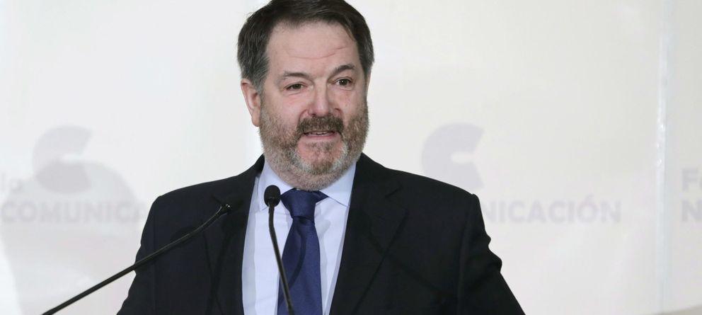 Foto: Bieito rubido, director de ABC, en el desayuno protagonizado en el Foro de la Nueva Comunicación (EFE).