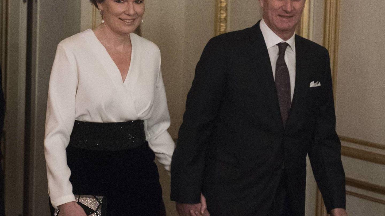 Matilde y Felipe llegando al evento. (Cordon Press)