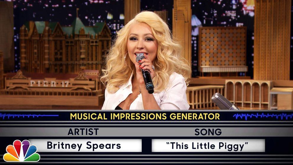 Christina Aguilera imita a Britney Spears en 'The Tonight Show'