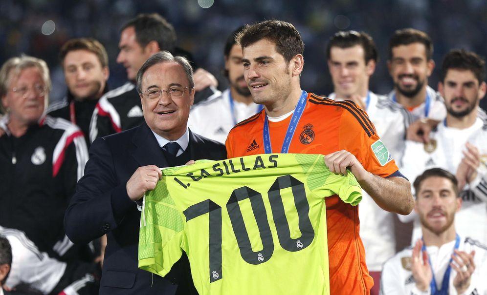 Foto: Florentino Pérez siempre pensó que Casillas no tenía el nivel superlativo para ser el titular del Real Madrid (EFE)