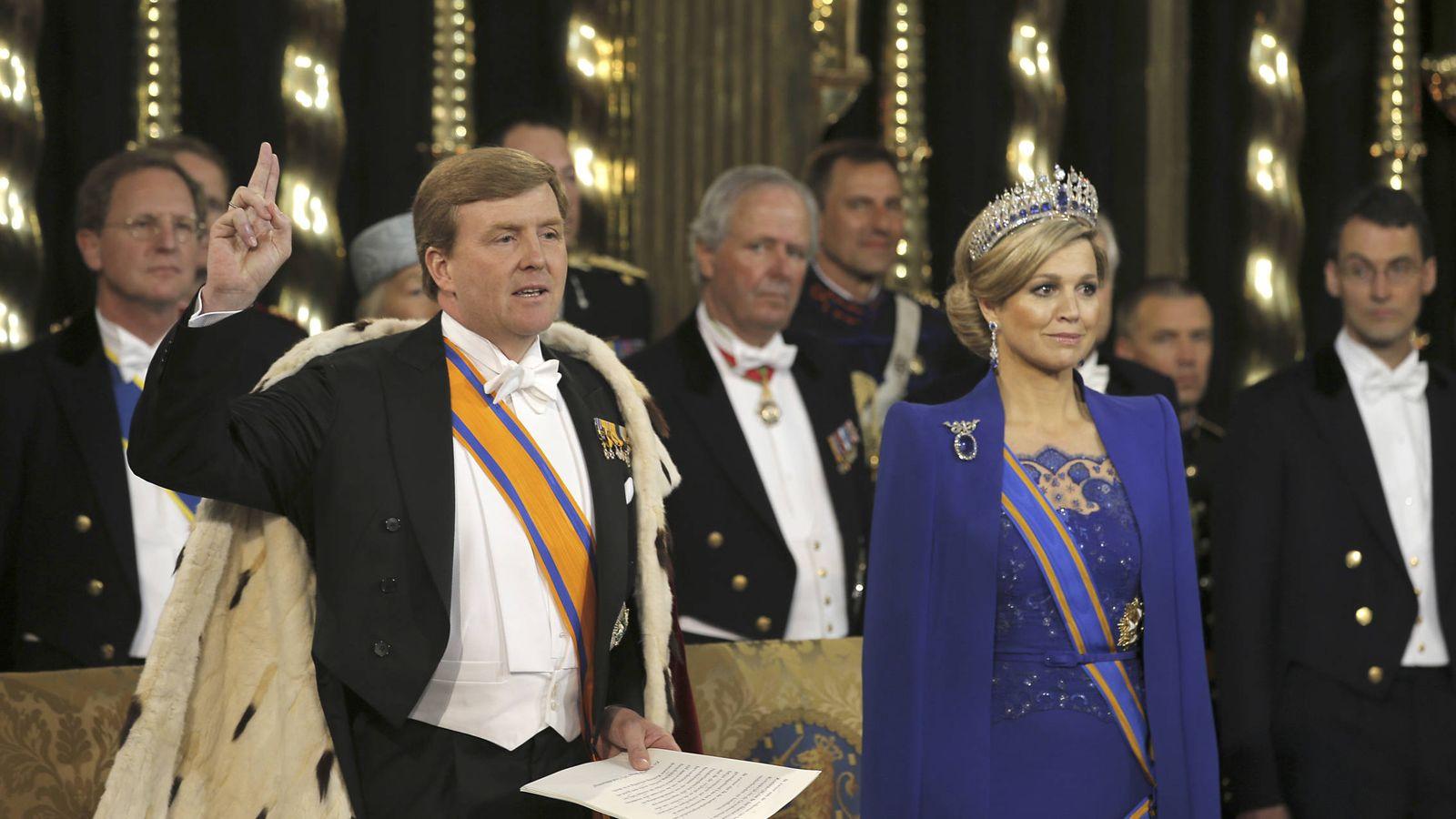Foto: El rey de Holanda durante su investidura. (Gtres)