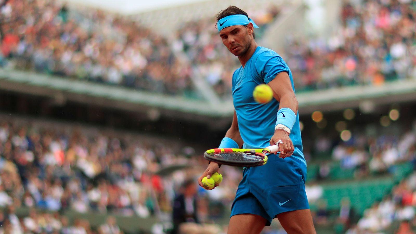 Foto: Rafa Nadal, este jueves en Roland Garros. (Reuters)