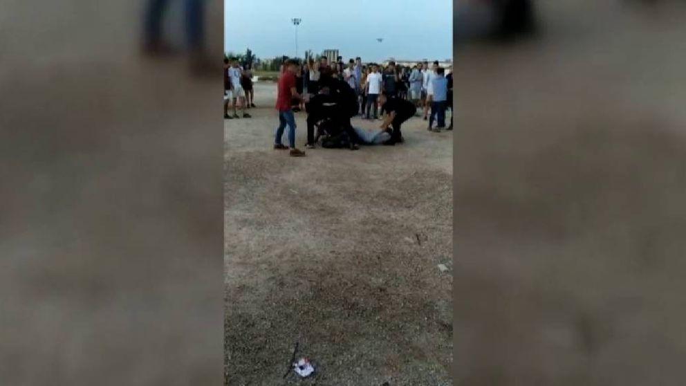Un joven acaba en el hospital tras una pelea con los porteros de una discoteca en Murcia