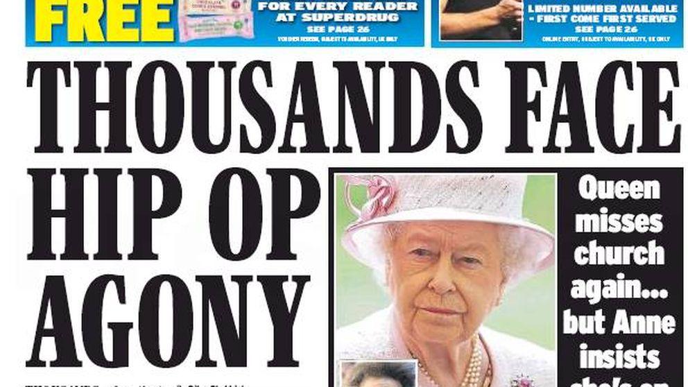 La enfermedad de Isabel II en la prensa británica