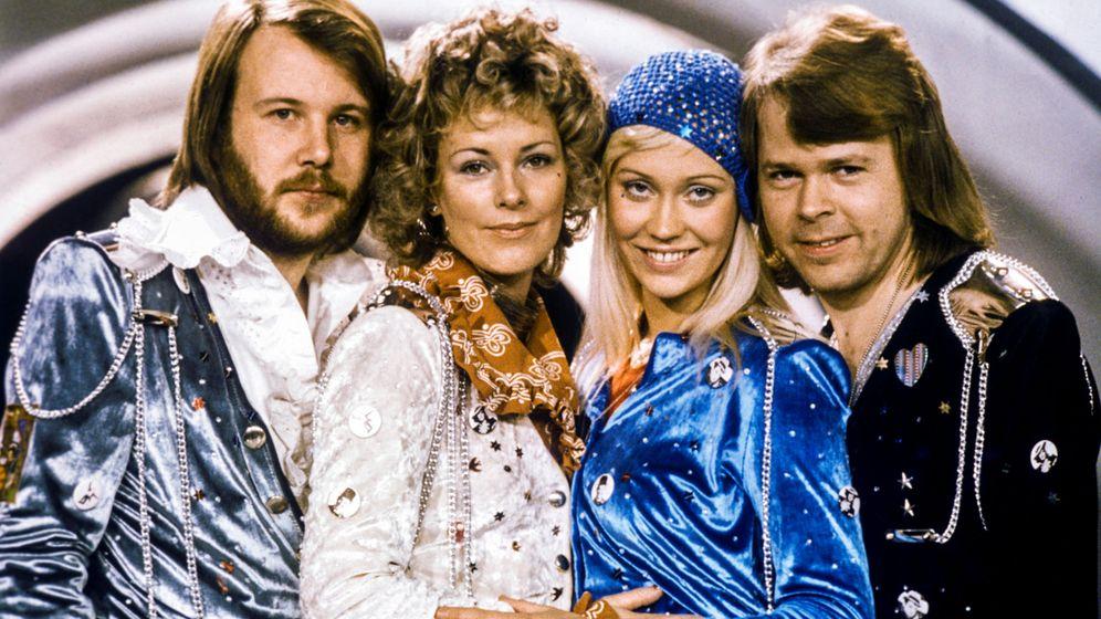 Foto: Los miembros de ABBA, en 1974. Foto: Reuters