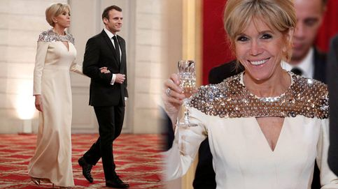 ¿Quién firma el vestido con el que anoche deslumbró Brigitte Macron en el Elíseo?