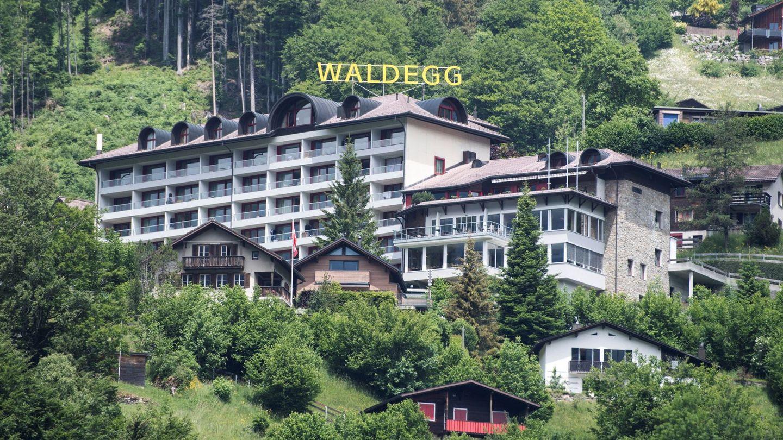 El hotel Waldegg, donde se hospeda la reina. (EFE)