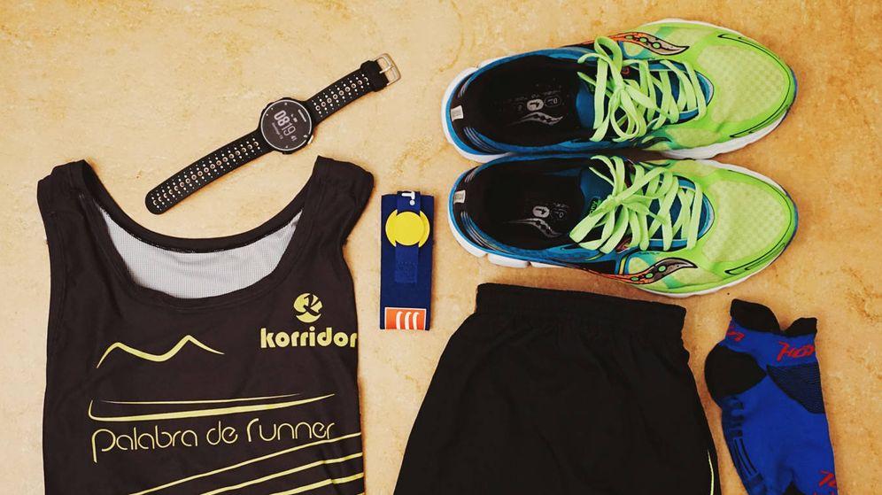 Foto: Equipamiento de un 'runner'. (Foto: Pedro Moya)