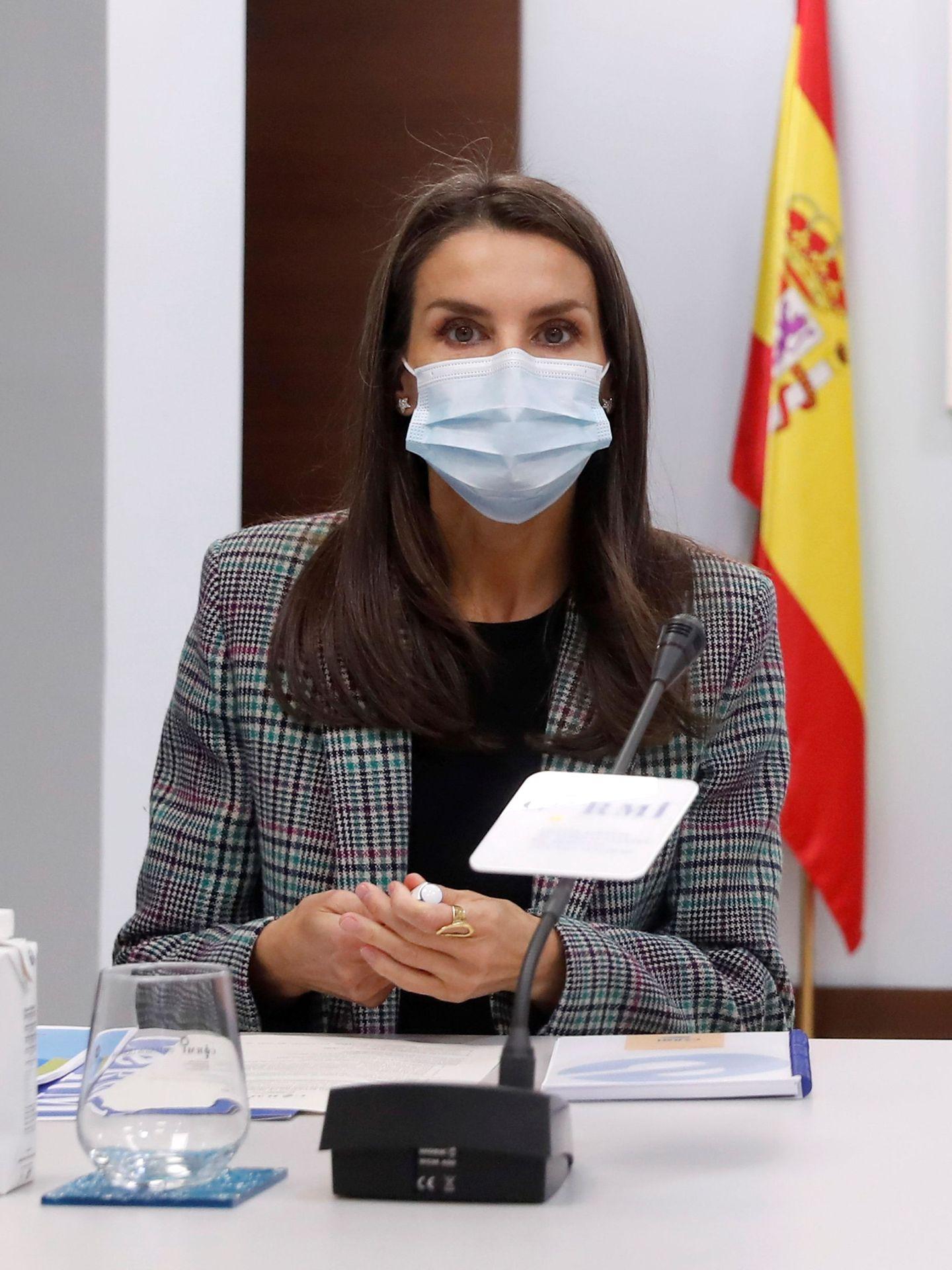 Letizia, durante una visita al comité español de personas con discapacidad. (EFE)