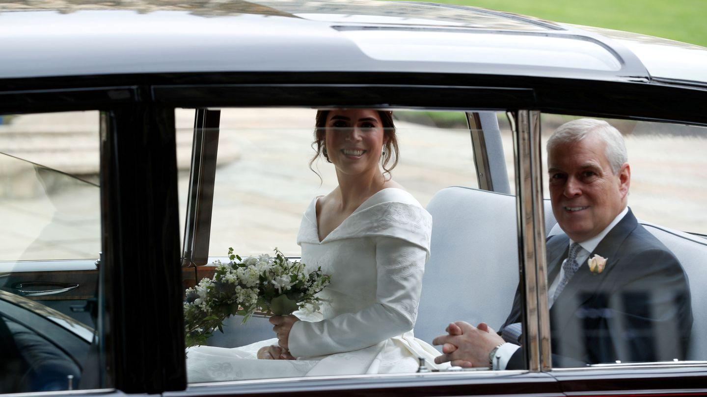El príncipe Andrés, durante la boda de su hija Eugenia. (Reuters)