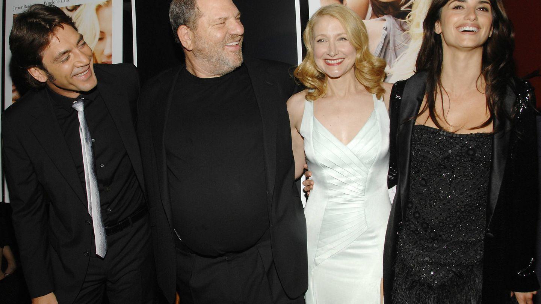 Penélope junto a Bardem y Weinstein en una foto de archivo. (Gtres)