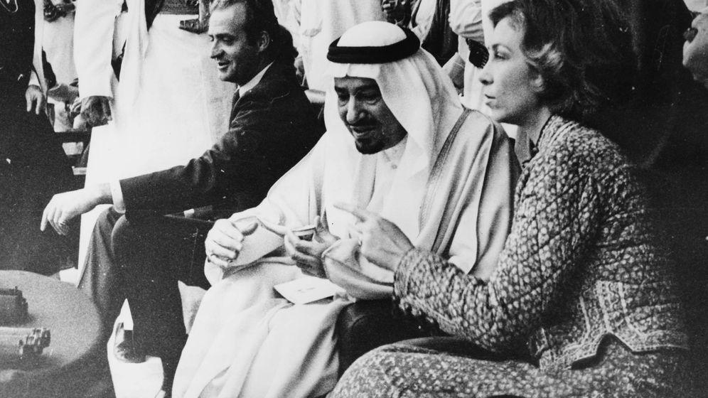Foto: Los reyes Juan Carlos y Sofía, con el rey Fahd. (Getty)