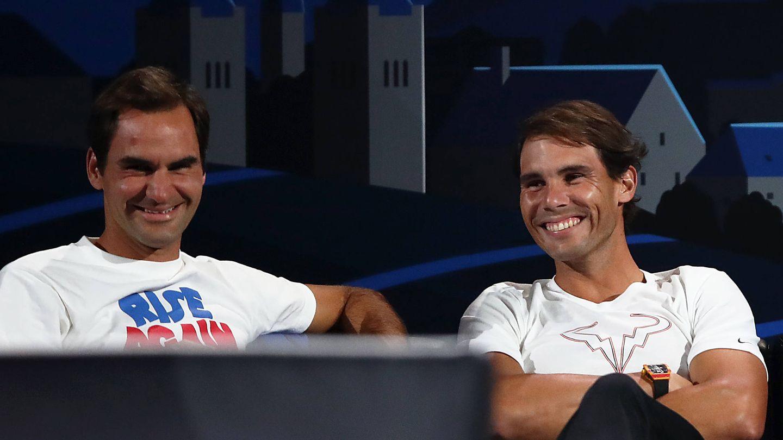 Federer y Nadal. (Getty)