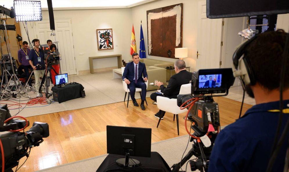 Foto: Pedro Sánchez, durante su entrevista con el periodista Antonio García Ferreras en 'Al rojo vivo' (La Sexta), el 19 de septiembre de 2019 en la Moncloa. (Borja Puig de la Bellacasa   Moncloa)
