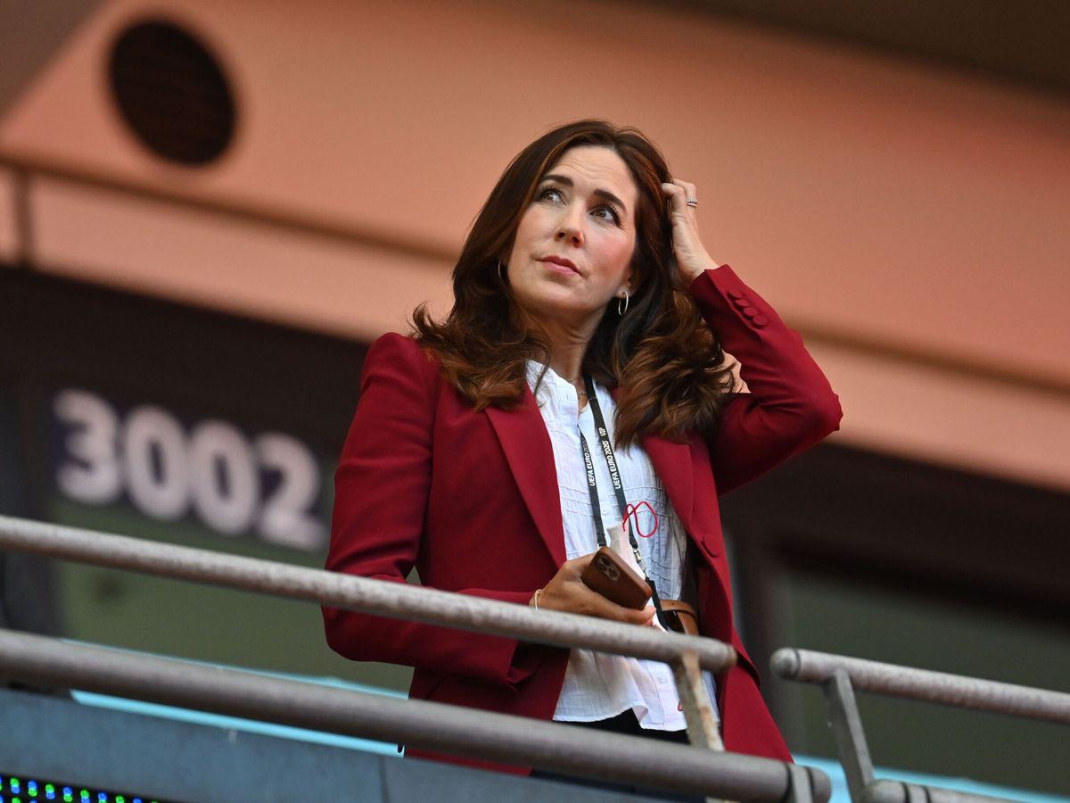 Foto: La princesa Mary de Dinamarca, en la Eurocopa. (Reuters)