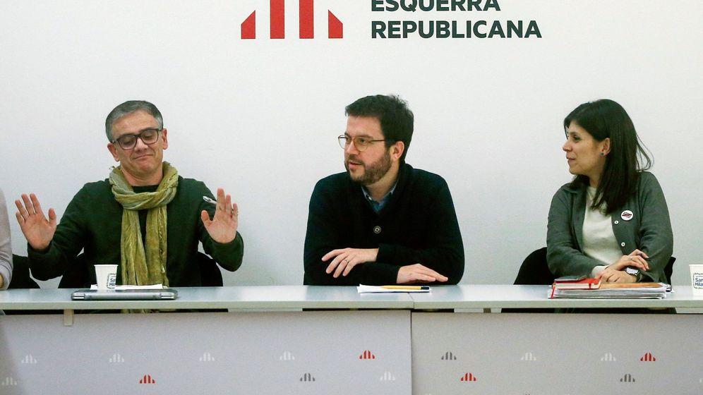 Foto: Marta Vilalta, Josep Maria Jové y Pere Aragonès. (EFE)