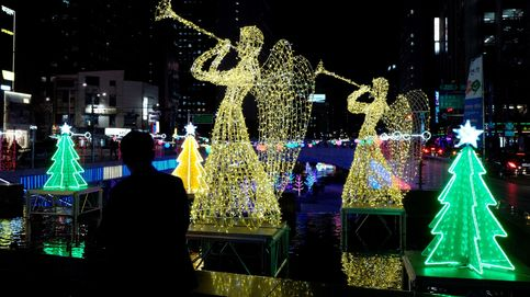 Luces de Navidad en Seúl