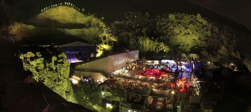 Foto: Imagen de la cantera de Marbella donde se celebra estos días el festival de Starlite (Gtres)