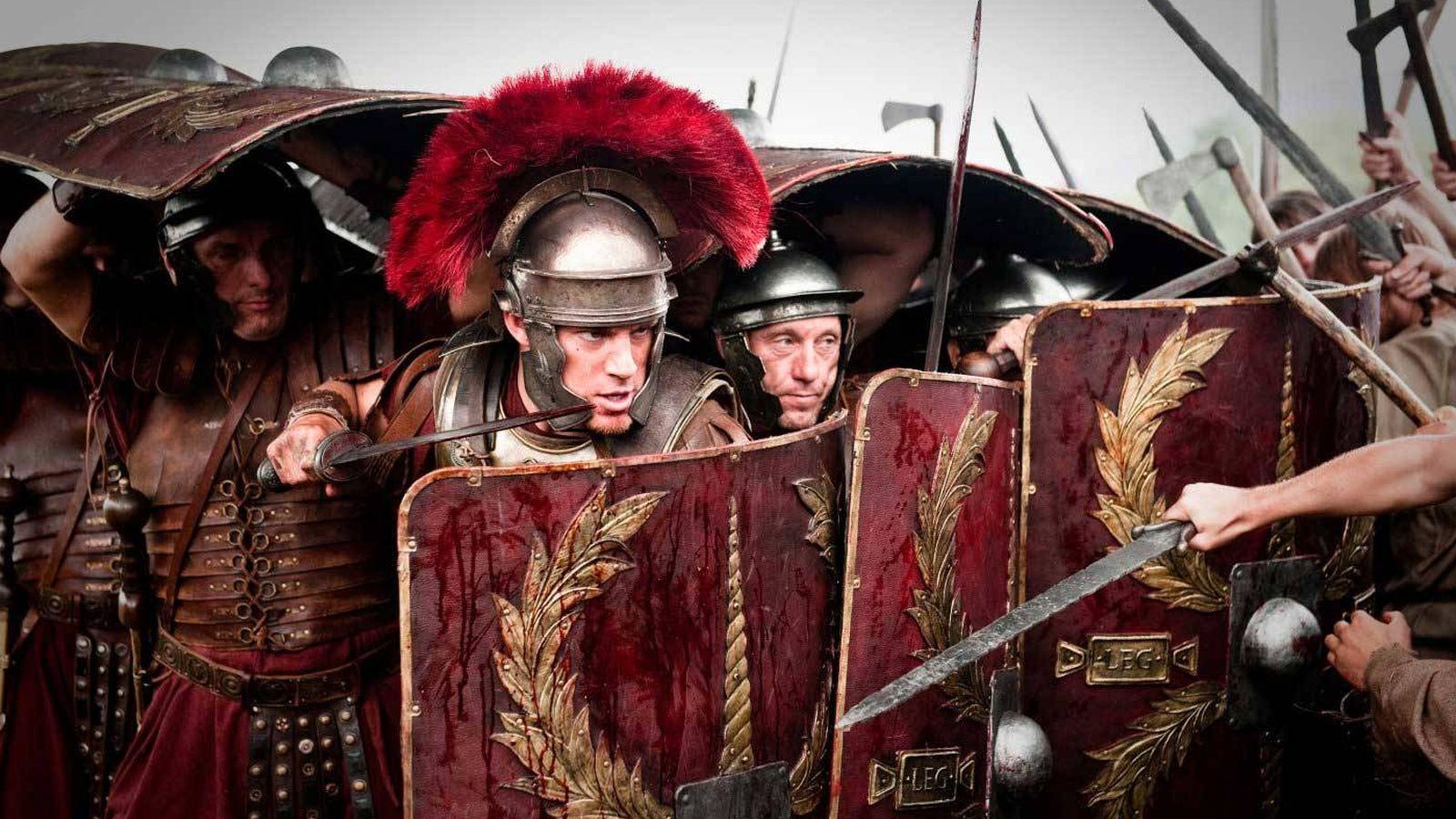 Foto: Representación de las legiones romanas en plena guerra