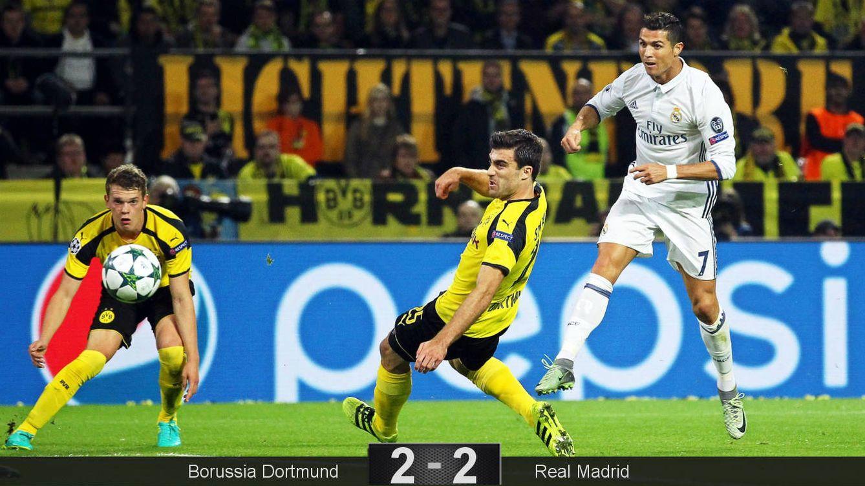 Foto: Cristiano, en el momento de marcar el 0-1. (Ina Fassbender/EFE)