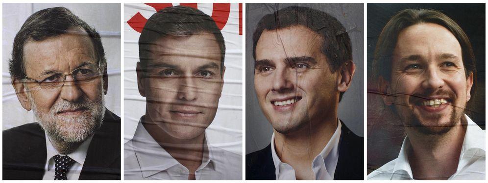 Foto: Carteles electorales de los candidatos a las elecciones generales. (Reuters)