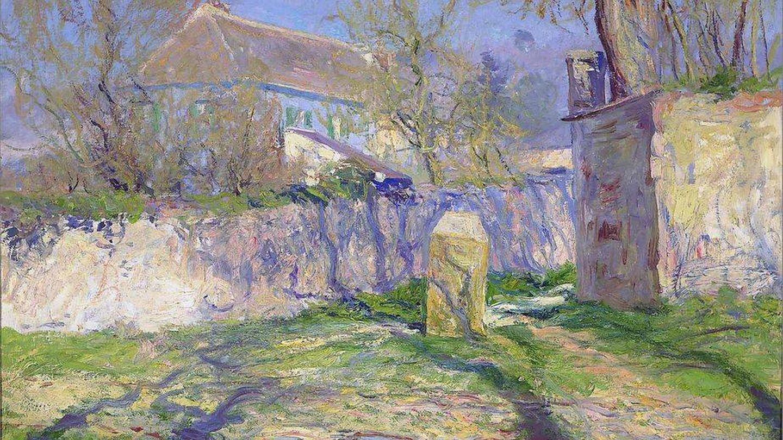 La casa azul, pintada por Monet. (Cortesía)