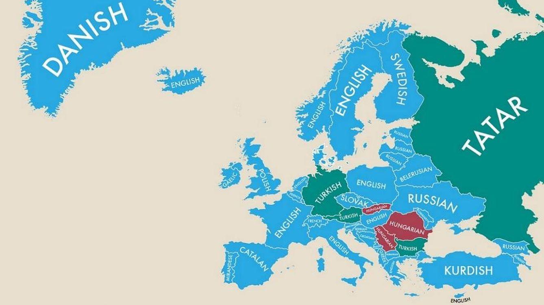 ¿Sabe cuál es la segunda lengua más hablada en estos países de Europa?