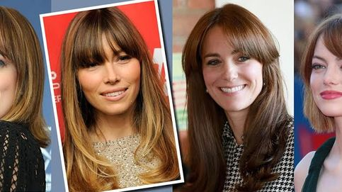 Kate Middleton, Dakota Johnson, Jessica Biel... Cómo llevar un flequillo con estilo