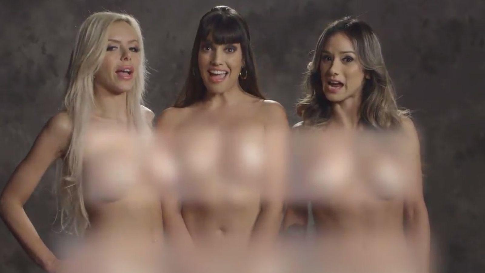 Foto: De izquierda a derecha, Nina Elle, Mercedes Carrera y Nadia Styles. (Funny or Die)