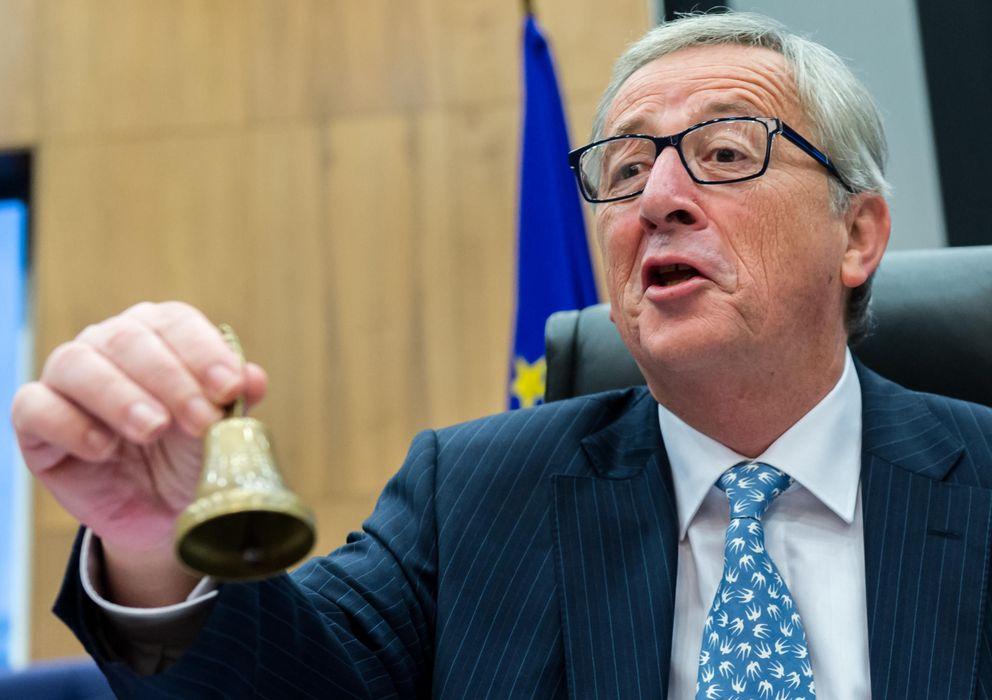 Foto: Juncker en la reunion de la Comision Europea del 5 de noviembre