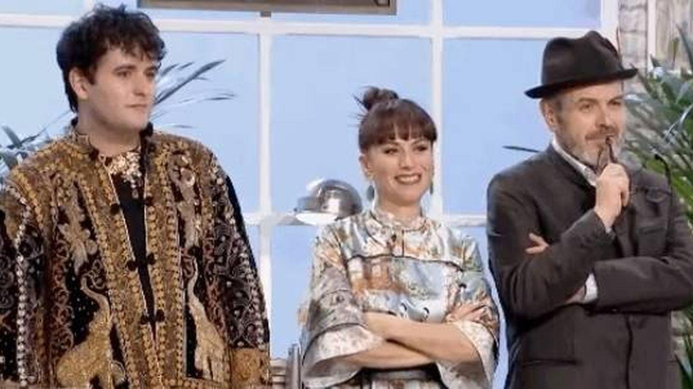 Palomo, María Escoté y Lorenzo Caprile se emocionaron en 'Maestros de la costura'.