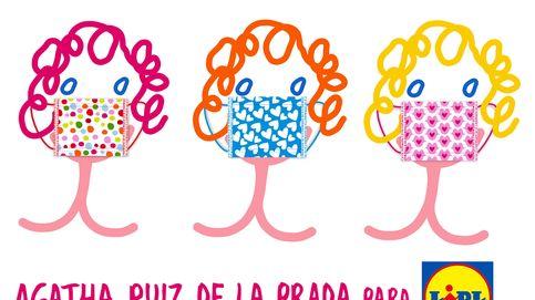 Lidl pone a la venta mascarillas reutilizables con diseños de Ágatha Ruiz de la Prada