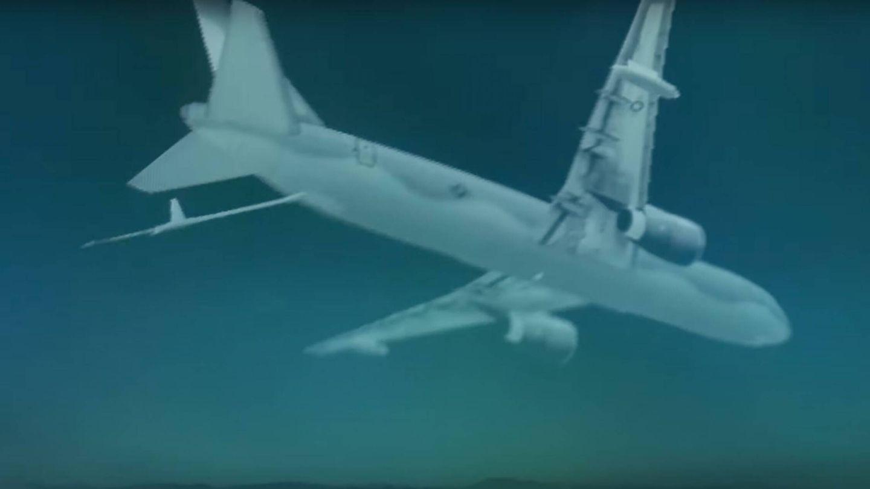 Así se ve (aproximadamente) un avión proyectado por el sistema ATARS (Red 6)