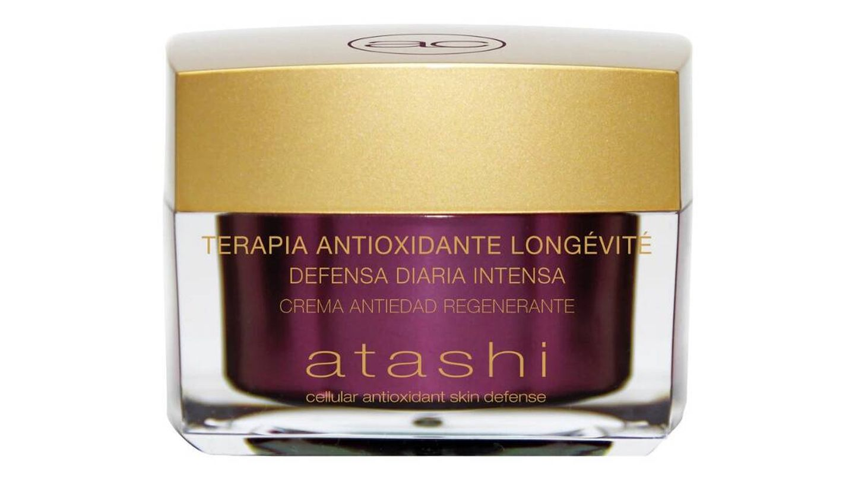 Crema Hidratante Regenerante de la Terapia Antioxidante Longevité de Atashi.