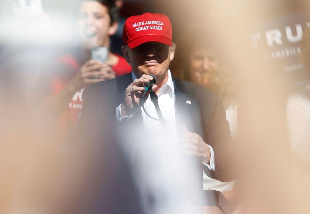 Foto: Donald Trump habla durante un acto de campaña en Lynden, Washington, el 7 de mayo de 2016 (Reuters)