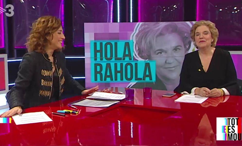 Foto: Pilar Rahola en la tele