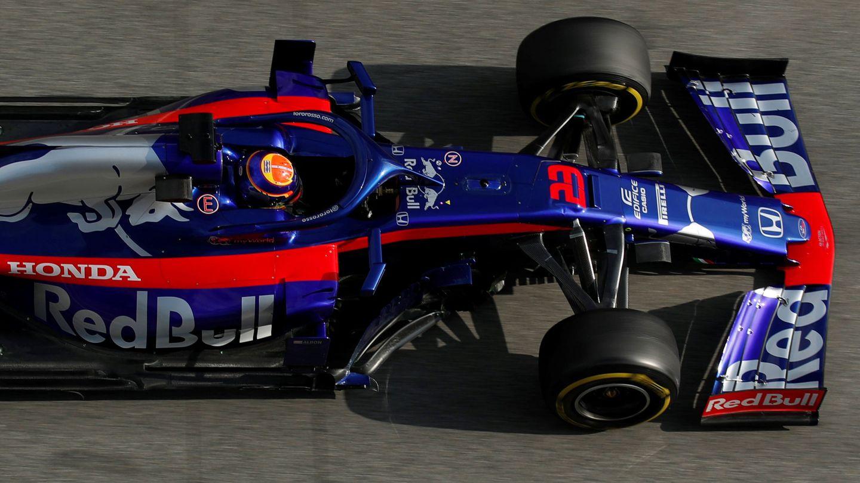 El Toro Rosso de Albon en los test de Barcelona. (Reuters)