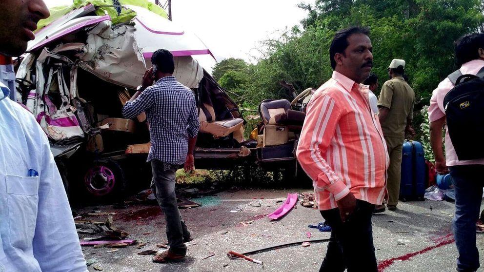Mueren cuatro turistas españoles en un accidente de tráfico en el sur de la India