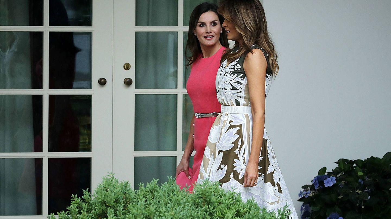 La reina Letizia y Melania Trump, en la Casa Blanca.